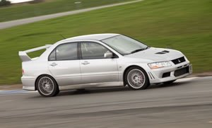 0 to 100 kph kmh time Mitsubishi Lancer Evo VII GSR  2002